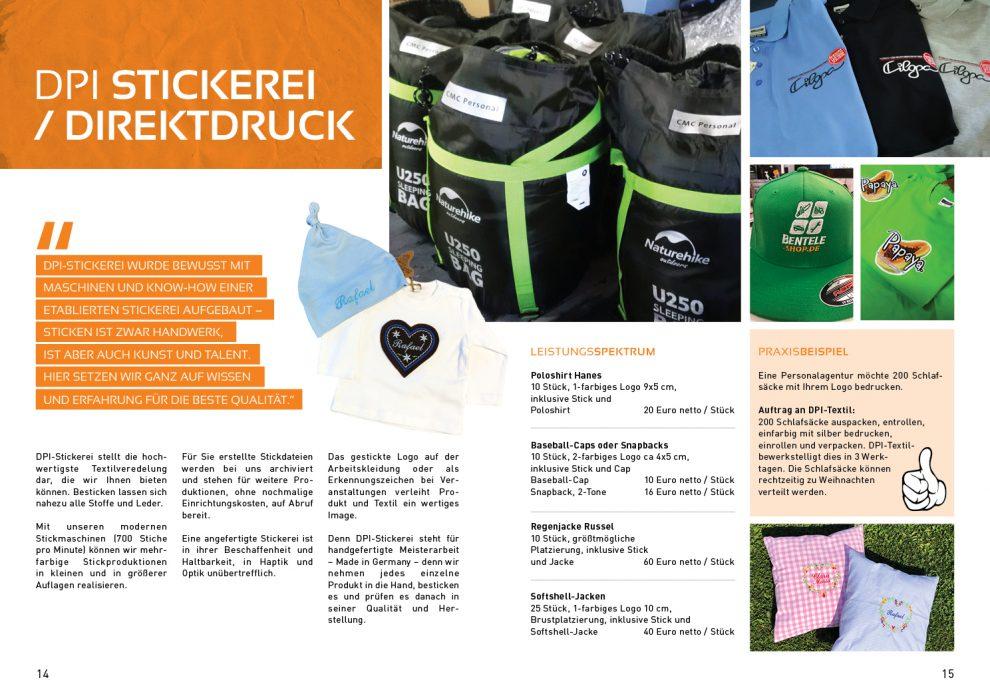 Kundenmagazin – DPI Stickerei